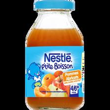 P'tite boisson pomme abricot dès 6 mois NESTLE, bouteille de 20cl
