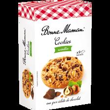 Cookies chocolat noisette BONNE MAMAN, 225g