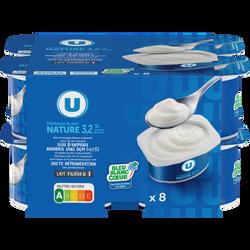 Fromage frais au lait pasteurisé nature 3,2% U 8x100g