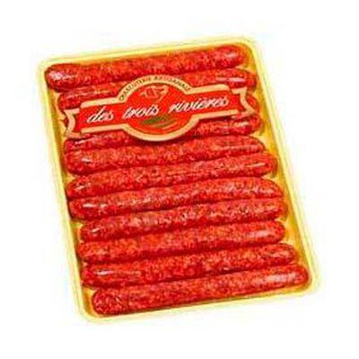 Merguez LES TROIS RIVIERES, 12 pièces, 660g