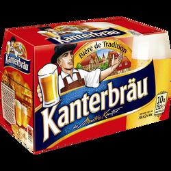 Bière blonde KANTERBRÄU, 4,2°, pack de 10x25cl
