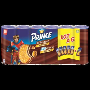 LU Biscuit Fourrés Au Chocolat X5 + Lait Et Chocolat X1 Lu Prince, 1,8kg