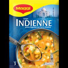 Soupe indienne petits légumes au curry madras MAGGI, 67g 75cl