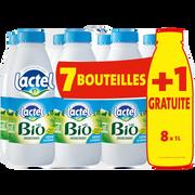 Lactel Lait Uht Bio Demi Écrémé Lactel, 7x1l + 1l Offert