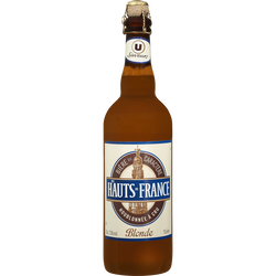 Bière blonde des Hauts de France Saveurs U, 7,5°, bouteille de 75cl