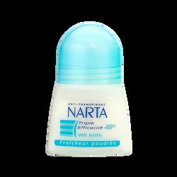 Déodorant anti-transpirant fraîcheur poudrée NARTA, bille de 50ml