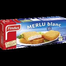 Panés de merlu blanc FINDUS, 10 unités, 510g