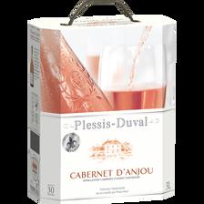 """Vin rosé AOC, Cabernet d'Anjou """"Plessis Duval"""", fontaine à vin de 3l"""