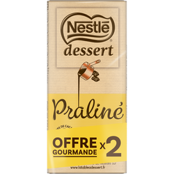 Chocolat praline NESTLE DESSERT, 2x170g