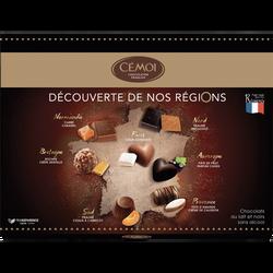 Coffrets découverte région bonbon de chocolat CEMOI, 350g