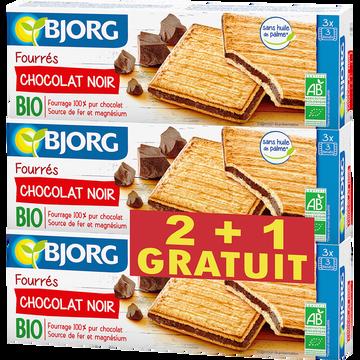 Bjorg Goûters Fourrés Chocolat Noir Bio Bjorg, 2x225g