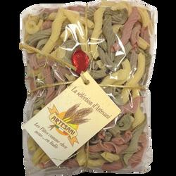 Pâtes torchietti 3 couleurs ARTESANI, 500g
