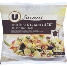 Poêlée de St Jacques au riz basmati U SAVEURS, 600g
