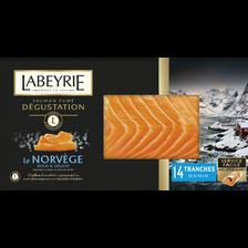 Labeyrie Saumon Atlantique De Norvège Fumé Au Bois De Hêtre , Plateau Dégustation De 14 Tranches, 500g