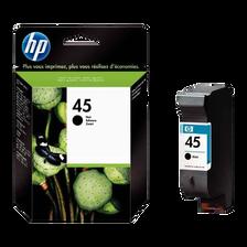 Cartouche d'encre HP pour imprimante, 51645A noir n°45, 42ml, sous blister