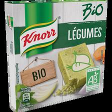 Bouillon de légumes bio KNORR, 6 tablettes, 60g