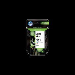 Pack cartouches d'encre HP pour imprimante, SD412EE n°350 + 351, sousblister