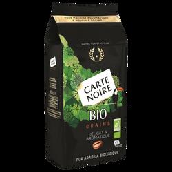 Café en grains bio CARTE NOIRE, paquet de 500g
