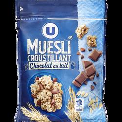 Muesli croustillant au chocolat au lait U, 500g