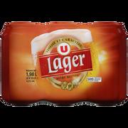 Lager Bière Blonde Lager U 4,2° Pack Boîtes De 6x33cl
