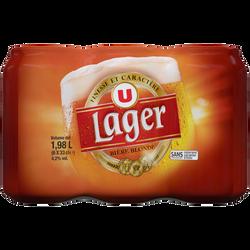 Bière blonde Lager U 4,2° pack boîtes de  6x33cl