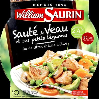 Sauté de veau aux petits légumes WILLIAM SAURIN, barquette micro-ondede 280g