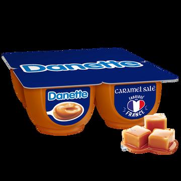 Danone Crème Dessert Au Caramel Beurre Salé Danette, 4x125g