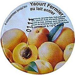 Yaourt fermier au lait entier à l'abricot LA FERME DE CORLY, 180g
