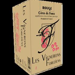 Vin rouge Côtes du Forez tradition un vin des hommes, bib 5l
