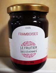 Coulis de framboise, Le fruitier des Cévennes, 300g