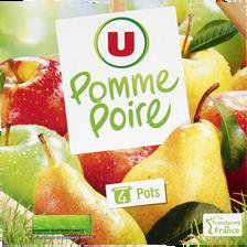 Dessert de fruits pomme poire U, 4x100g
