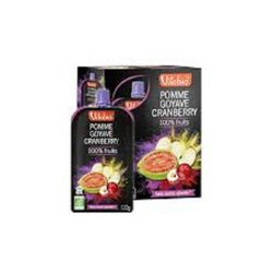 Gourde Pomme-Goyave-Cranberry Bio Vitabio 4x120g