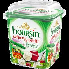 Fromage pasteurisé échal./ciboulet.BOURSIN salade&apéritif 39,5% 120g