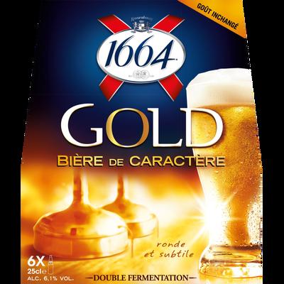 Bière blonde GOLD, 6,1°, 6x25cl