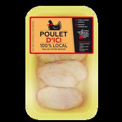 Haut cuisse poulet jaune déjointé, POULET D'ICI, France, 4 pièces