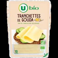 Gouda affinage 4 semaines lait pasteurisé 28% mg U BIO tranches 200g