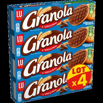 LU Biscuits Chocolat Au Lait Granola 4x200g