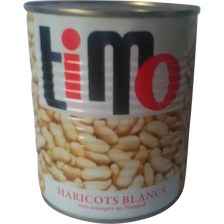 Flageolets blancs au naturel TIMO, boîte de 840g