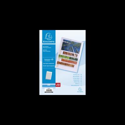 Pochettes à coin EXACOMPTA, format A4, 10 unités, incolore