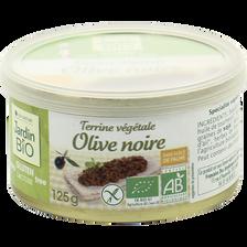 Terrine végétale olive noire sans gluten  JARDIN BIO, boite de 125g