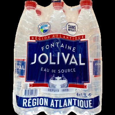 Eau de source fontaine JOLIVAL, 6 bouteilles de 1,5l