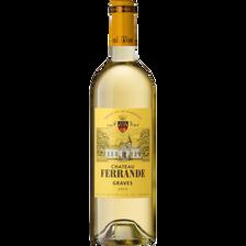 Vin blanc AOP Graves Château Ferrande, 75cl