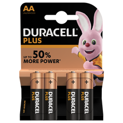 4 Piles LR06 AA Power Plus DURACELL