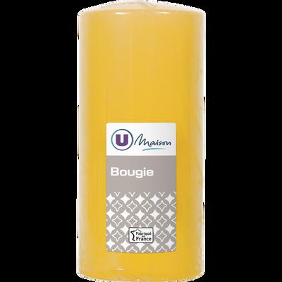 Bougie U MAISON, non parfumée, 68x145mm, jaune