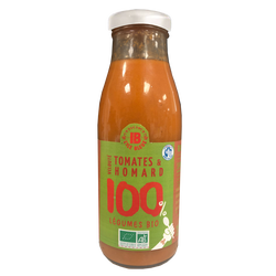 Velouté tomates bio homard ILE BLEUE, bouteille 490g