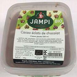 Crème glacée BIO cacao éclats de chocolat, JAMPI, 550 ML