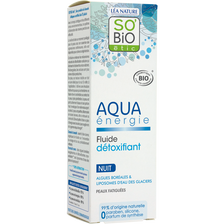 Fluide détoxifiant de nuit aqua energie Bio LEA NATURE, flacon de 50ml