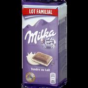 Milka Chocolat Tendre Au Lait Milka, 6 Tablettes De 100g