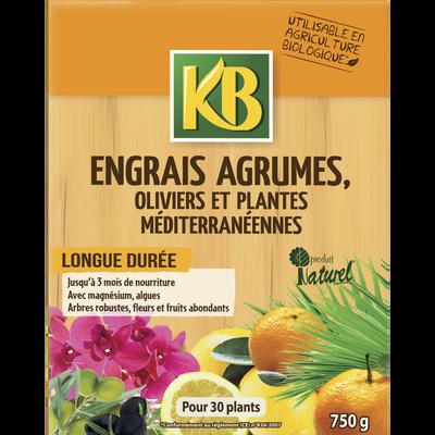 ENGRAIS AGRUMES ET PLANTES MEDITERRANEENNES KB ORGANO-