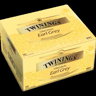 Thé Earl Grey TWININGS, 50 sachets, 100g